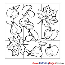 Picture Autumn download printable Coloring Pages