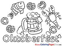 Pretzel Kids free Coloring Page
