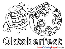 Pretzel Oktoberfest Kids download Coloring Pages