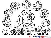 Pretzels for free Coloring Pages download