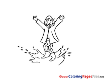 Puddle Colouring Page printable free