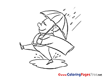 Puddle for Kids printable Colouring Page
