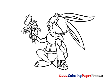 Rabbit printable Coloring Sheets download