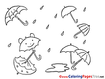 Rain download Colouring Sheet free