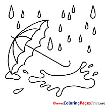Rain printable Coloring Sheets download