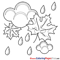 Shower Children Coloring Pages free