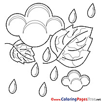 Shower free Colouring Page download