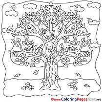 Tree Coloring Pages for free