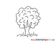Tree for Kids printable Colouring Page