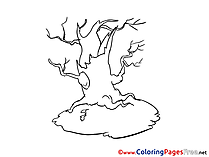 Tree printable Coloring Sheets download