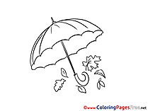 Umbrella for free Coloring Pages download