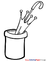 Umbrella Kids free Coloring Page