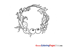 Vegetables printable Coloring Pages for free