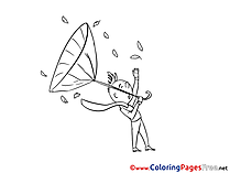 Wind Children download Colouring Page