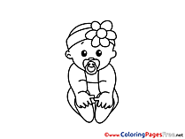 Baby download Colouring Sheet free