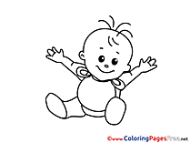 Baby download printable Coloring Pages