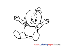 Baby free printable Coloring Sheets
