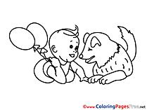 Balloons printable Coloring Sheets download