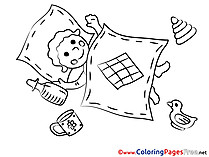 Blanket for Kids printable Colouring Page