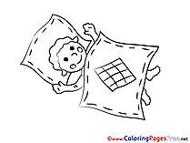 Blanket free printable Coloring Sheets