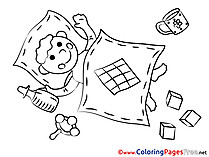 Blanket printable Coloring Pages for free