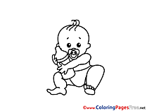 Bottle Children Coloring Pages free