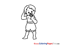 Boy Kids download Coloring Pages