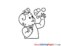 Bubbles Coloring Sheets download free