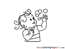 Bubbles Kids download Coloring Pages