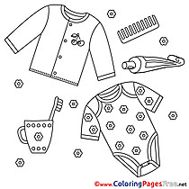 Clothes Children download Colouring Page