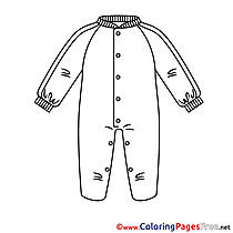 Clothes free printable Coloring Sheets