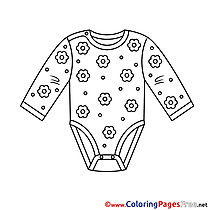 Clothes printable Coloring Pages for free