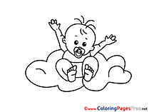 Cloud free printable Coloring Sheets