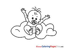 Cloud free printable Coloring Sheets
