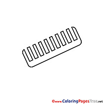 Comb Coloring Pages for free