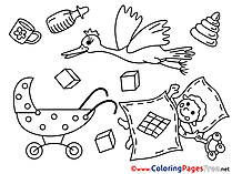 Cubes Baby for Children free Coloring Pages