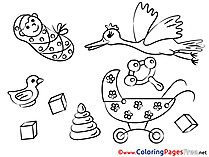 Cubes Coloring Sheets download free