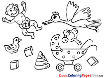Cubes Kids download Coloring Pages
