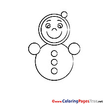 Doll Children Coloring Pages free