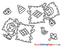 Duck Blanked printable Coloring Sheets download