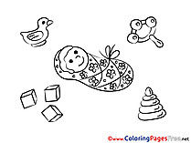 Duck free Colouring Page download