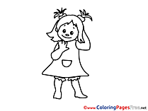 Girl free Colouring Page download