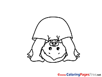 Gymnastics Coloring Sheets download free