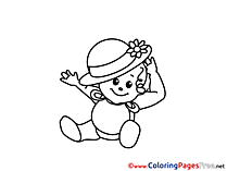 Hat Colouring Sheet download free