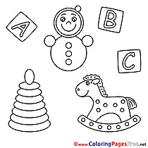 Horse Kids download Coloring Pages