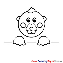Image Baby Colouring Page printable free