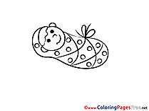 Infant Colouring Sheet download free