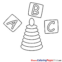 Letters Cubes download printable Coloring Pages