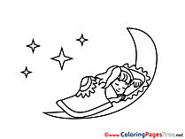 Moon printable Coloring Pages for free
