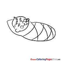 Napkins Kids free Coloring Page
